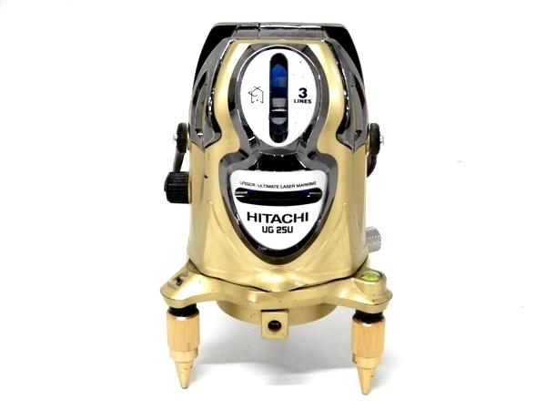 【中古】 中古 HITACHI 日立 UG25U レーザー墨出し器 受光器 三脚 測定器 F3551417