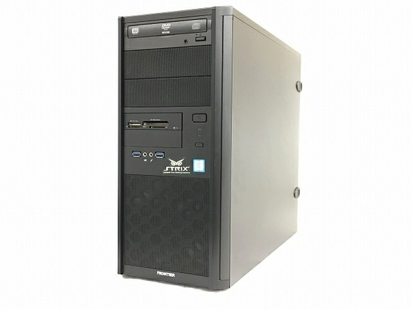 【中古】 FRONTIER FRGA750/WS3 デスクトップ パソコン PC i7-7700 3.60GHz 16GB SSD525GB HDD2TB Win10 Home 64bit GTX1080 T3825435