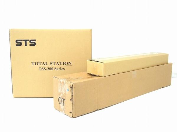未使用 【中古】 STS TSS-200S ノンプリズム トータルステーション 三脚 ミニプリズムユニット 付き O3477732