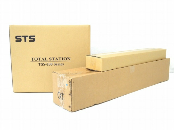 未使用 【中古】 STS TSS-200S ノンプリズム トータルステーション 三脚 ミニプリズムユニット 付き O3473861