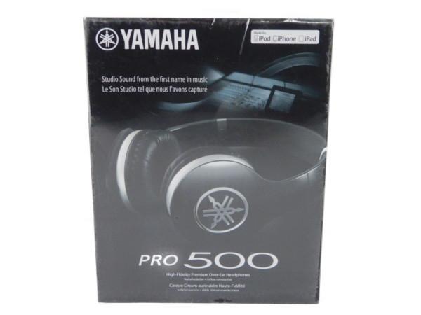 未使用 【中古】 未開封 YAMAHA ヤマハ ヘッドホン HPH-PRO500 B ブラック オーバーイヤー ヘッドホン Y3656962