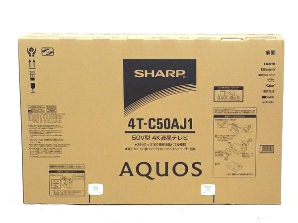 未使用 【中古】 SHARP AQUOS シャープ アクオス 4T-C50AJ1 50V型 4K 液晶テレビ Android TV T3557964