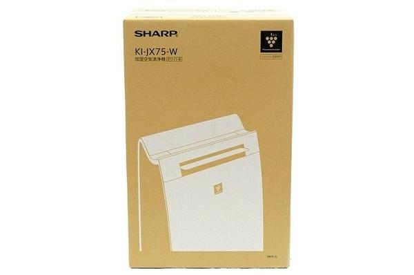 未使用 【中古】 SHARP 加湿空気清浄機 KI-JX75-W プラズマクラスター 25000 21畳用 シャープ ホワイト T3820610