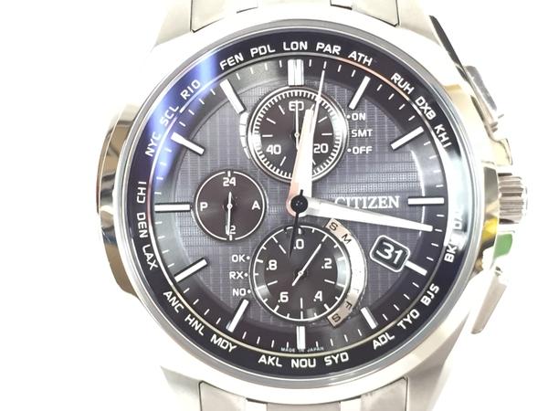 【中古】 CITIZEN シチズン アテッサ エコドライブ AT8040-57E 腕時計 ソーラー電波クォーツ T3864262