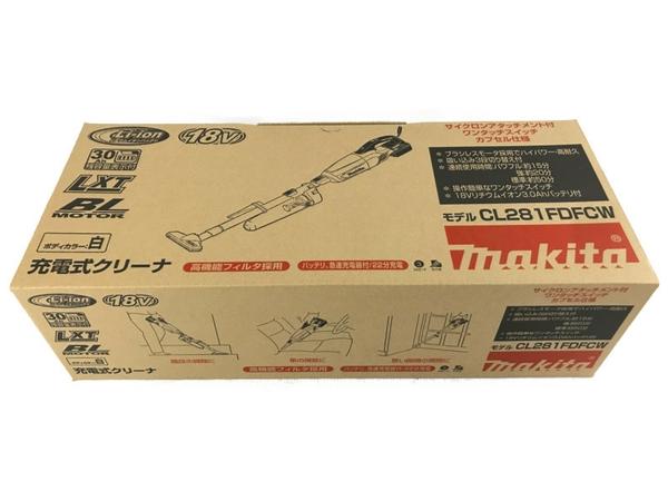 【中古】未使用 makita マキタ CL281FDFCW 充電式クリーナー 掃除機 コードレス N5153135