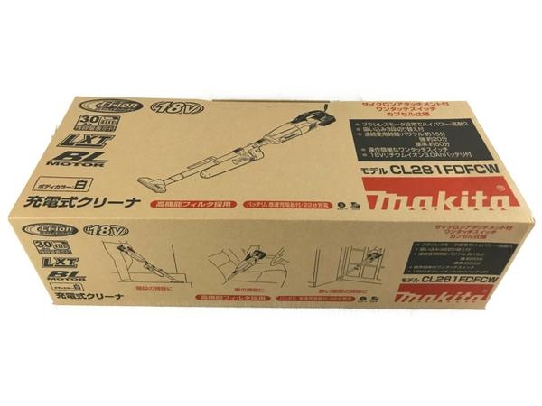 【中古】未使用 makita マキタ CL281FDFCW 充電式クリーナー 掃除機 コードレス N5153136
