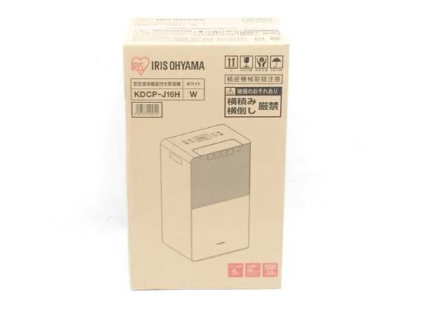 未使用 【中古】 未使用 アイリスオーヤマ 空気清浄機付除湿器 KDCP-J16H-W O5088761