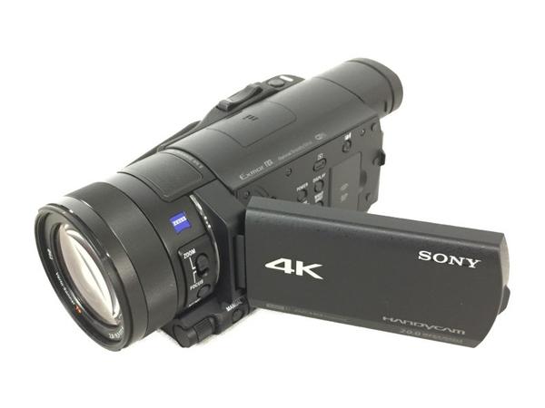 美品 【中古】SONY ソニー ビデオカメラ FDR-AX100 4K 光学12倍 ブラック Handycam ハンディカム カメラ N3856579