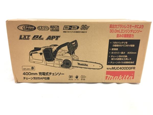 未使用 【中古】 未使用 makita MUC400DGFR マキタ 400mm 充電式 チェーンソー T4260280