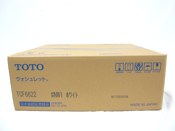 未使用 【中古】 TOTO TCF6622 ウォシュレット 温水洗浄便座 #NW1 ホワイト 未使用 T3559760