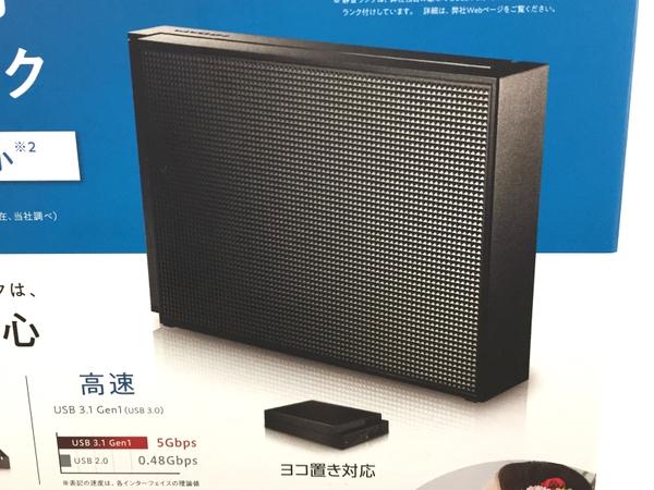 未使用 【中古】 I-O DATA PC・TV用 外付ハードディスク HDCZ-UT2KB 2TB ブラック T3909435