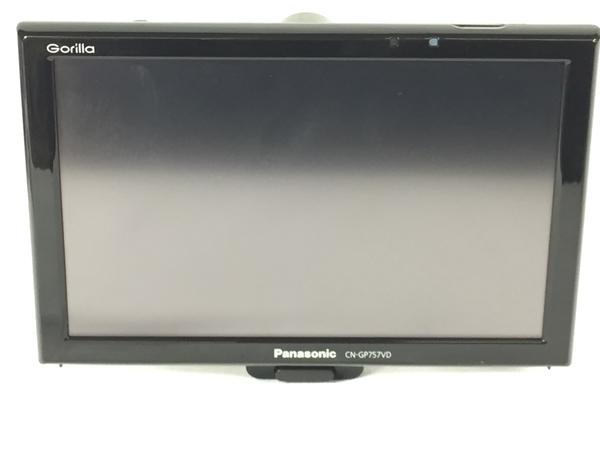 良好 【中古】 Panasonic パナソニック Gorilla CN-GP757VD ポータブルナビ 7型 リヤビューカメラ CY-RC90KD バックカメラ セット S3908846