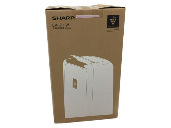 未使用 【中古】SHARP シャープ CV-J71 プラズマクラスター除湿器 除湿機 コンパクト除湿機 衣類乾燥 N4206850
