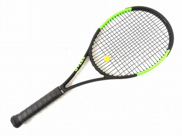 美品 【中古】 美品 Wilson 硬式 テニスラケット BLADE98 ウィルソン テニス ケース付き O4942710
