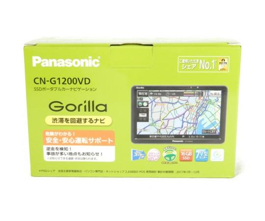 未使用 【中古】 Panasonic パナソニック CN-G1200VD Gorilla SSD ワンセグ ポータブル カーナビ 7インチ K3918547