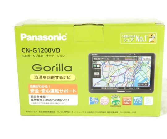 未使用 【中古】 Panasonic パナソニック CN-G1200VD Gorilla SSD ワンセグ ポータブル カーナビ パナソニック 7インチ K3915893