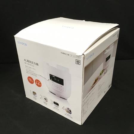 未使用 【中古】 シロカ SP-4D131 電気圧力鍋 4L 2018年製 キッチン家電 時短 自動料理 レシピブック付 ホワイト系 siroca W3655401