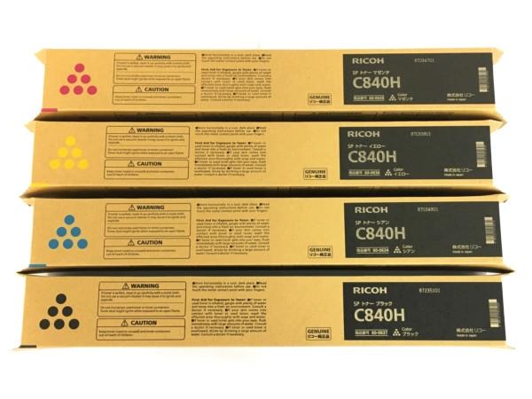 【まとめ買い】 未使用 【】 RICOH SPトナー C840H 4色セット マゼンタ イエロー シアン ブラック リコー Y3830383, スカイショップ小笠原Express 0208f171