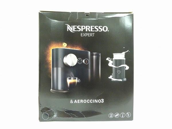 未使用 【中古】 開封済み NESPRESSO ネスプレッソ EXPERT エキスパート 80BKA3B ブラック コーヒーマシーン コーヒーメーカー O4114031