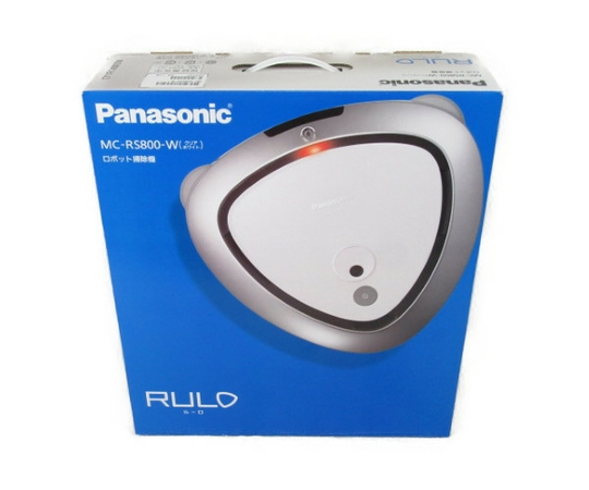 未使用 【中古】 Panasonic パナソニック RULO ルーロ MC-RS800-W ロボット 掃除機 クリアホワイト 2018年製 N3312148