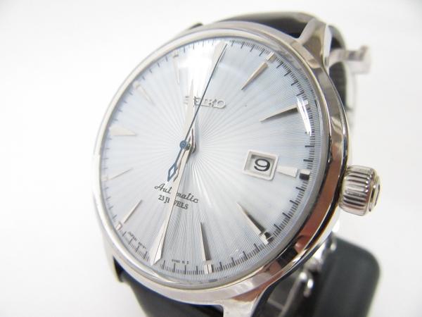アンマーショップ 【】 良好品 SEIKO セイコー メカニカル SARB065 6R15-01S0 メンズ 腕時計 SS 革 スケルトン 裏スケ アイスブルー T2678614, ビフカチョウ e8ac8f40