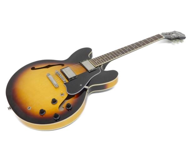 【中古】 Epiphone by Gibson エピフォン DOT VS エレキギター Vintage Sunburst F3459369