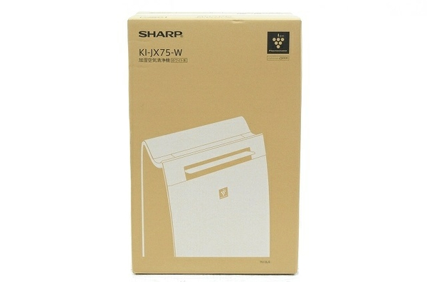 未使用 【中古】 SHARP 加湿空気清浄機 KI-JX75-W プラズマクラスター 25000 21畳用 T3848583