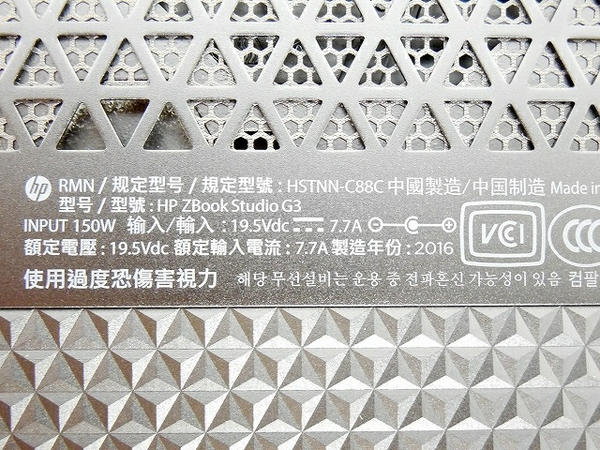 楽天市場 中古 hp zbook studio g3 xeon e3 1505m v5 32gb ssd512gb