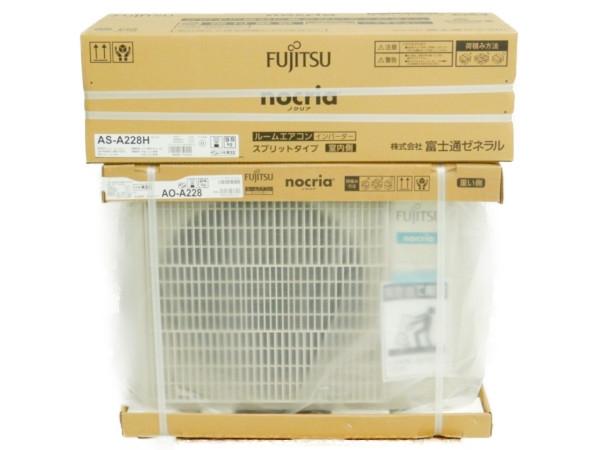 未使用 【中古】 Fujitsu 富士通ゼネラル AS-A228H AO-A228 nocria ノクリア ルーム エアコン 家電 楽直 【大型】 Y3536787