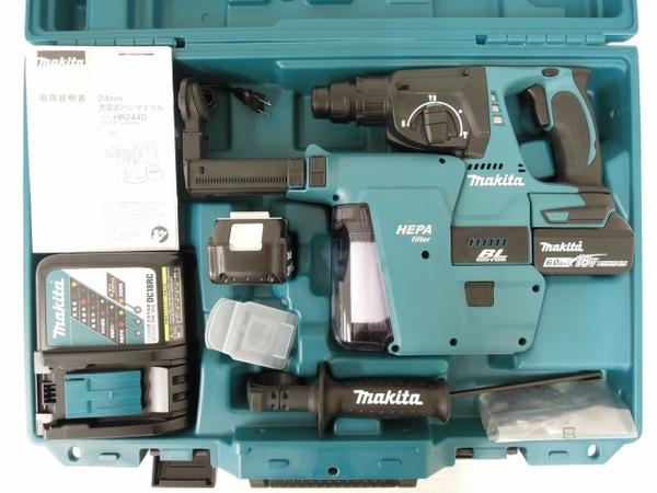 未使用 【中古】 未使用 makita HR244DRGXV マキタ 24mm 充電式 ハンマドリル 6.0Ah 集じんシステム DX01 電動工具 O3560926