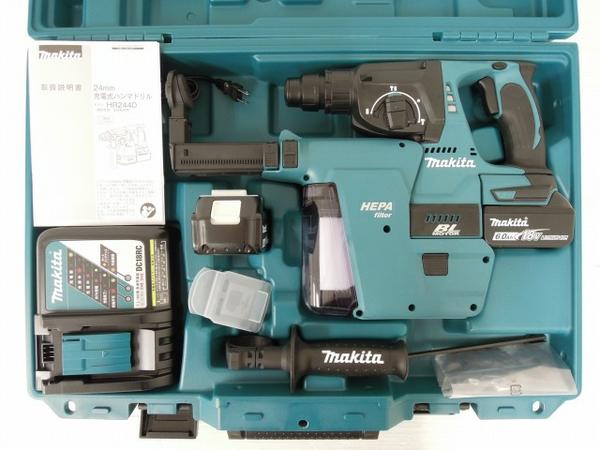未使用 【中古】 未使用 makita HR244DRGXV マキタ 24mm 充電式 ハンマドリル 6.0Ah 集じんシステム DX01 電動工具 O3560928