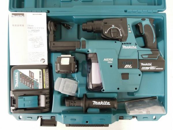 未使用 【中古】 未使用 makita HR244DRGXV マキタ 24mm 充電式 ハンマドリル 6.0Ah 集じんシステム DX01 電動工具 O3560833