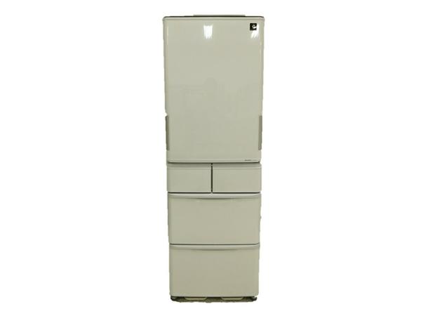 【中古】 SHARP 5ドア 424L 冷蔵庫 SJ-PW42W 2012年製 どっちもドア N3843403