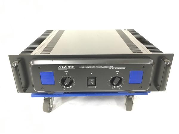 流行 中古 NES 450B パワーアンプ オーディオ 日本全国 送料無料 2WAY POWER N5570049 音響 AMPLIFER