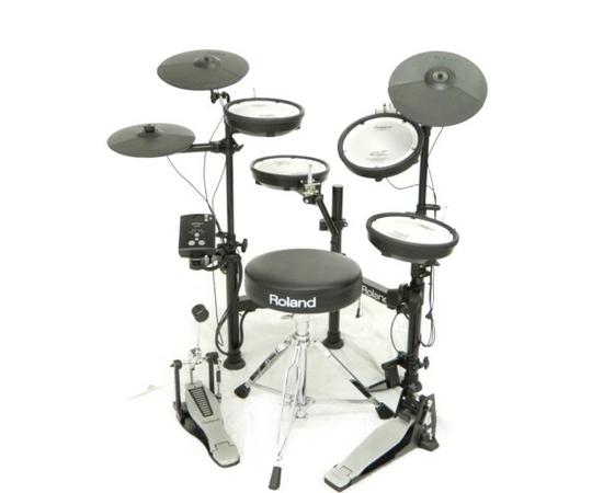 【中古】ROLAND ローランド TD-1KPX2 V-Drums Portable 電子 ドラム マット 椅子 付 打楽器 楽器 K3774373