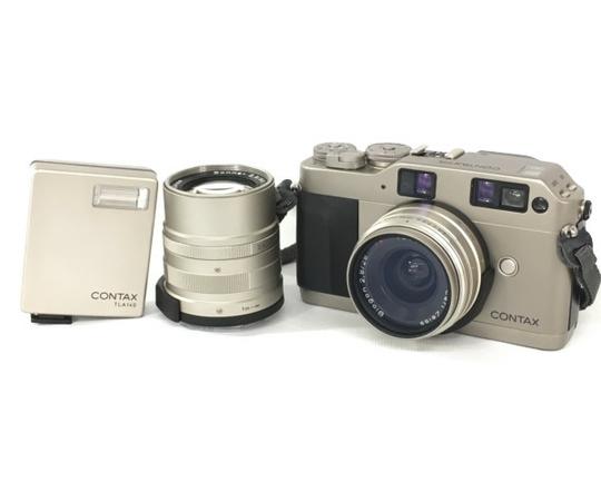 【中古】 CONTAX コンタックス G1 Sonnar 2.8/90 Biogon 2.8/28 レンズセット カメラ 機器 N3900702