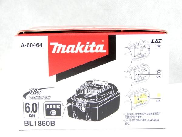 未使用 【中古】 makita マキタ BL1860B リチウムイオンバッテリ 18V 6.0Ah 電動工具 K3560242
