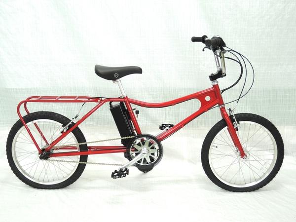 美品 【中古】 The PARK e-bike PBLE BMX キャンディレッド Eアシストバイク 電動 自転車 【大型】 Y3160124