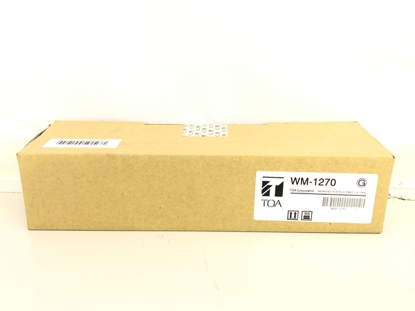 未使用 【中古】 TOA WM-1270 800MHz ワイヤレスマイク 単一指向性 ダイナミック型 マイクロホン アンテナ内蔵型 音響 K4871594