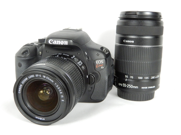 【中古】 Canon キャノン EOS Kiss X5 18-55mm F3.5-5.6 IS II デジタルカメラ デジカメ 一眼レフ レンズキット EF-S 55-250mm F4-5.6 IS II カメラバッグ K3680330