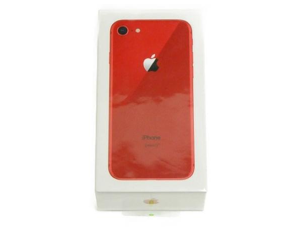 未使用 【中古】 Apple アップル iPhone8 MRT02J/A docomo 256GB 4.7型 レッド スマートフォン T3717391