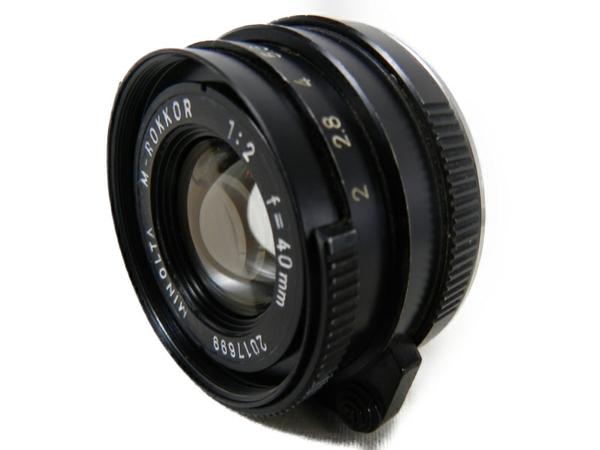 【中古】 MINOLTA ミノルタ M-ROKKOR F2 40mm 単焦点レンズ MADE IN JAPAN Mマウント S3560711