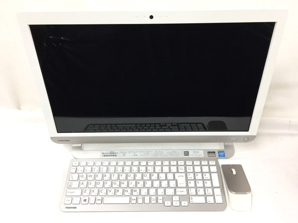 【中古】 TOSHIBA dynabook D51/TW PD51TWP-SWA 一体型 パソコン PC 21.5型 Celeron 3215U 1.70GHz 4GB HDD1.0TB Win10 Home 64bit 中古 T3116193