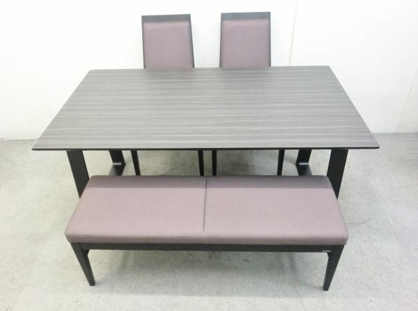 【中古】 カリモク ダイニングセット テーブル 椅子 ベンチ DA5080 CA1905 【大型】 O2527429