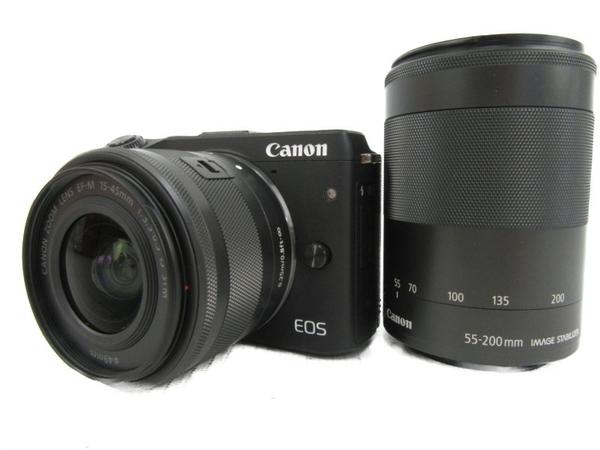 【中古】 Canon キヤノン EOS M3 BK WZK カメラ 一眼レフ ミラーレス ダブルズームキット ブラック N3911063