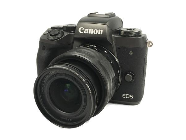 【中古】 Canon キヤノン ミラーレス一眼 EOS M5 EF-M15-45 IS STM レンズキット デジタル カメラ ブラック  N3885845