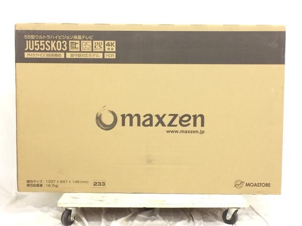 未使用 【中古】 未開封 maxzen マクスゼン JU55SK03 55V型 55インチ 4K対応 液晶 テレビ TV 2019年製 K4235191