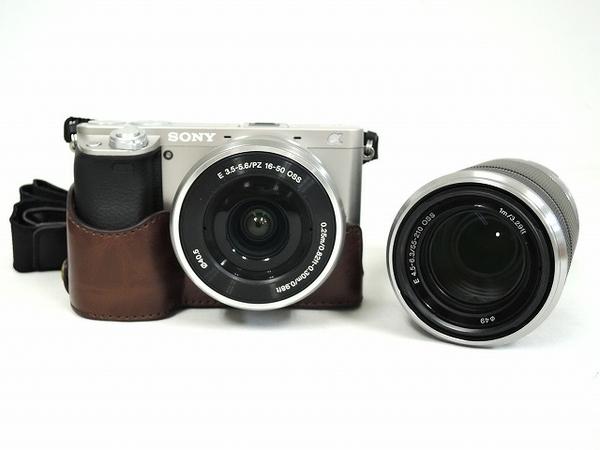 【中古】 SONY ソニー α6000 ILCE-6000L ダブルズーム キット ミラーレス一眼 ブラック カメラ 元箱 付 Y2629204