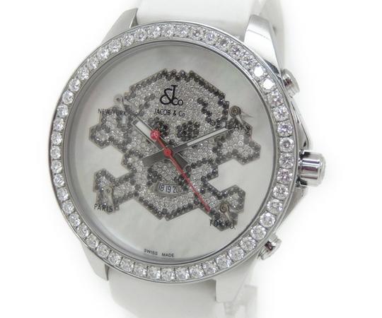 【中古】 良好 JACOB&Co. ジェイコブ ファイブタイムゾーン 47mm スカル ベゼルダイヤ 文字盤ダイヤ メンズ 腕時計 クォーツ T2414006, ソウリョウチョウ 8513e15b