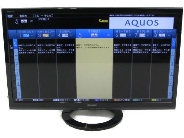 【中古】 SHARP シャープ AQUOS LC-24K40 B 24V型 液晶 テレビ ブラック 2017年製 N3866581